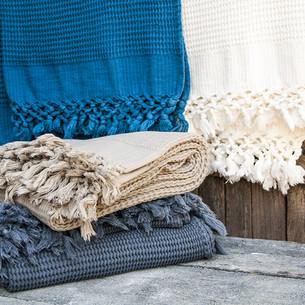 Плед-полотенце Buldan's BOHEM голубой 50х90