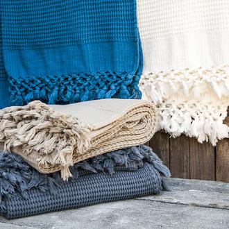 Плед-полотенце Buldan's BOHEM (голубой)