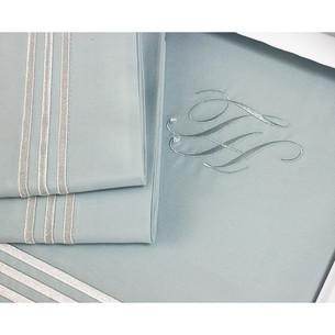 Постельное белье Tivolyo Home LINE хлопковый люкс-сатин бирюзовый евро