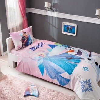 Комплект детского постельного белья TAC FROZEN PINK хлопковый ранфорс