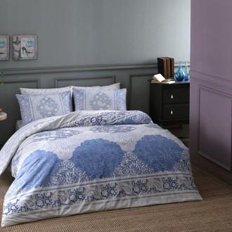 Комплект постельного белья TAC HAPPY DAYS ARYAN хлопковый ранфорс (голубой)