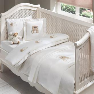 Комплект постельного белья для новорожденных Tivolyo Home LOVELY BEBE хлопковый сатин (бежевый)