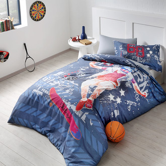 Комплект детского постельного белья Tivolyo Home SKATER хлопковой сатин делюкс