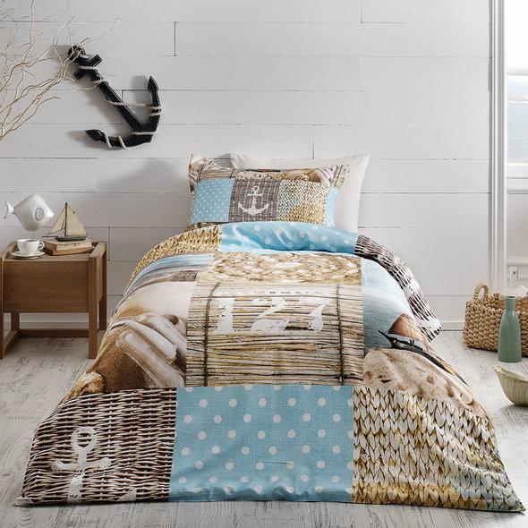Комплект детского постельного белья Tivolyo Home SAILOR хлопковой сатин делюкс 1,5 спальный, фото, фотография