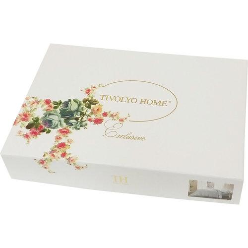 Постельное белье Tivolyo Home FLORIS хлопковый люкс-сатин 1,5 спальный, фото, фотография