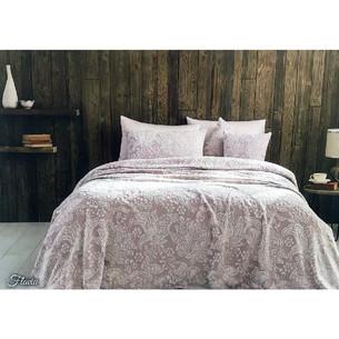 Махровая простынь-покрывало для укрывания Tivolyo Home FLAVIA хлопок грязно-розовый 220х240