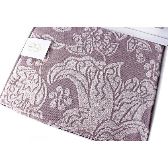 Махровая простынь-покрывало для укрывания Tivolyo Home FLAVIA хлопок лиловый 220*240, фото, фотография