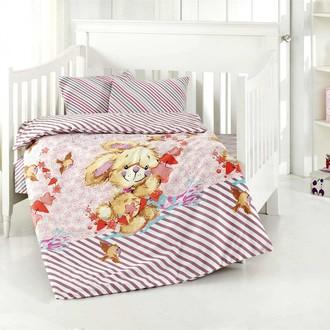 Комплект постельного белья для новорожденных Altinbasak PAMUK хлопковый ранфорс (розовый)