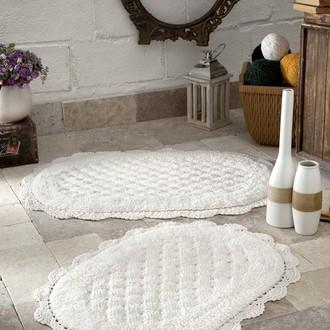 Набор ковриков Modalin MERIT хлопок 45х60, 50х80 кремовый