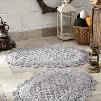 Набор ковриков Modalin MERIT хлопок 45*60, 50*80 светло-серый