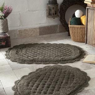 Набор ковриков Modalin MERIT хлопок 45х60, 50х80 тёмно-коричневый
