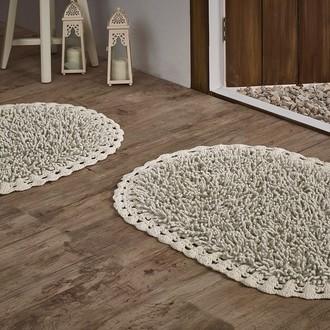 Набор ковриков Modalin DUAL хлопок 45*60, 50*80 (кремовый)