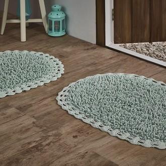 Набор ковриков Modalin DUAL хлопок 45*60, 50*80 (светло-зелёный)