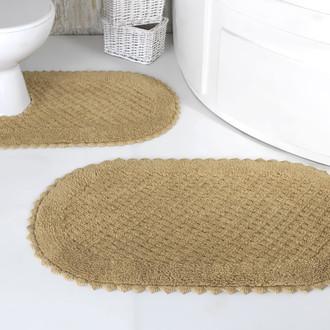 Набор ковриков для ванной Modalin PRIOR хлопок 50*70, 60*100 бежевый