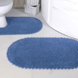 Набор ковриков для ванной Modalin PRIOR хлопок 50*70, 60*100 голубой