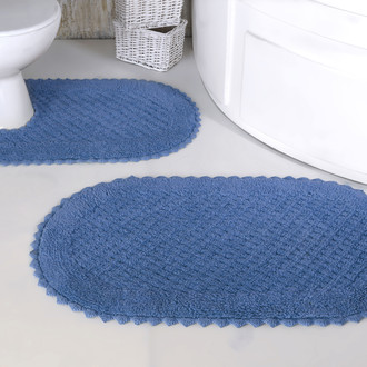Набор ковриков для ванной Modalin PRIOR хлопок 50х70, 60х100 голубой
