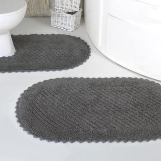 Набор ковриков для ванной Modalin PRIOR хлопок 50*70, 60*100 тёмно-серый