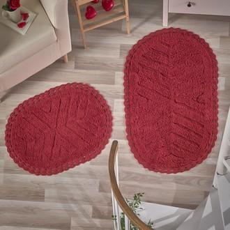 Набор ковриков Modalin CROSS хлопок 50*70, 60*100 (красный)