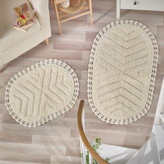 Набор ковриков Modalin CROSS хлопок 50*70, 60*100 (кремовый)