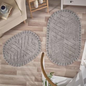 Набор ковриков Modalin CROSS хлопок 50*70, 60*100 (серый)