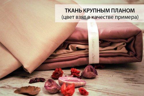 Постельное белье Karna LOFT хлопковый сатин коричневый+бежевый евро, фото, фотография