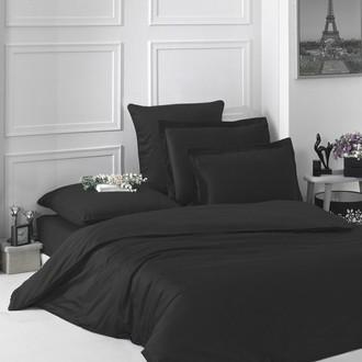 Комплект постельного белья Karna LOFT хлопковый сатин (чёрный)