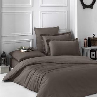 Комплект постельного белья Karna LOFT хлопковый сатин (коричневый)