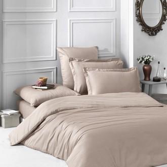 Комплект постельного белья Karna LOFT хлопковый сатин (кофейный)