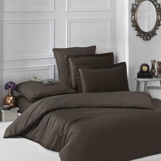 Комплект постельного белья Karna LOFT хлопковый сатин (шоколадный)