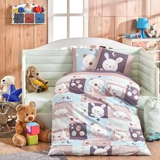 Комплект постельного белья для новорожденных Hobby Home Collection SNOOPY хлопковый поплин (минт)
