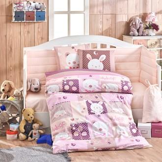 Набор в кроватку для новорожденных Hobby Home Collection SNOOPY хлопковый поплин (розовый)