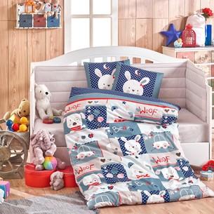 Набор в кроватку для новорожденных Hobby Home Collection SNOOPY хлопковый поплин синий