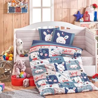 Набор в кроватку для новорожденных Hobby Home Collection SNOOPY хлопковый поплин (синий)