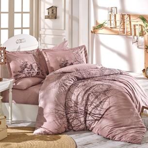Постельное белье Hobby Home Collection MARGHERITA хлопковый поплин светло-коричневый 1,5 спальный