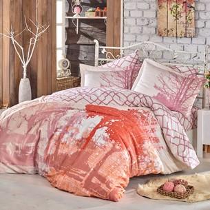 Постельное белье Hobby Home Collection ALANDRA хлопковый сатин розовый семейный