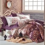 Постельное белье Hobby Home Collection SANCHA хлопковый сатин коричневый евро, фото, фотография