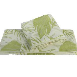 Полотенце для ванной Hobby Home Collection AUTUMN хлопковая махра+велюр зелёный 100х150