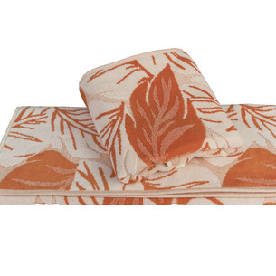 Полотенце для ванной Hobby Home Collection AUTUMN хлопковая махра+велюр оранжевый 100х150