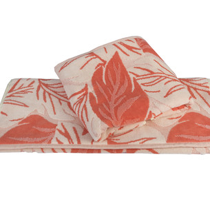 Полотенце для ванной Hobby Home Collection AUTUMN хлопковая махра+велюр персиковый 100х150