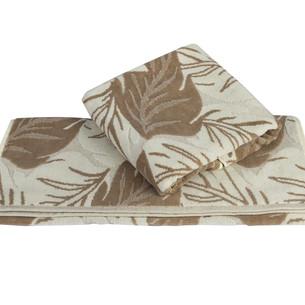 Полотенце для ванной Hobby Home Collection AUTUMN хлопковая махра+велюр песочный 100х150