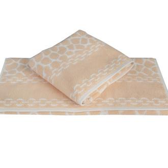 Полотенце для ванной Hobby Home Collection MARBLE хлопковая махра (персиковый)