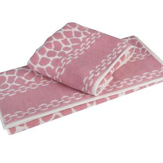 Полотенце для ванной Hobby Home Collection MARBLE хлопковая махра (розовый)