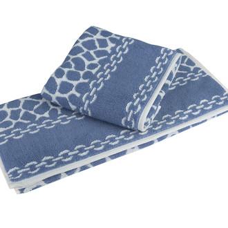 Полотенце для ванной Hobby Home Collection MARBLE хлопковая махра синий