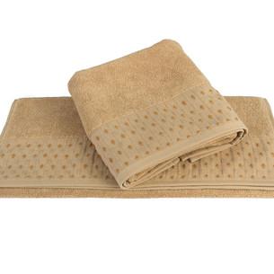 Полотенце для ванной Hobby Home Collection MARSEL хлопковая махра горчичный 100х150