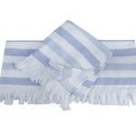 Банное полотенце пештемаль Hobby Home Collection STRIPE хлопок голубой 70х140, фото, фотография