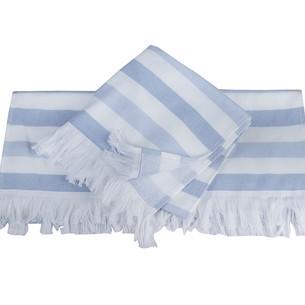 Банное полотенце пештемаль Hobby Home Collection STRIPE хлопок голубой 70х140