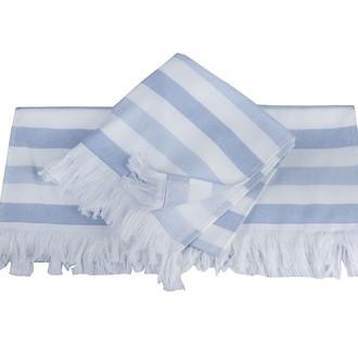 Банное полотенце пештемаль Hobby Home Collection STRIPE хлопок голубой
