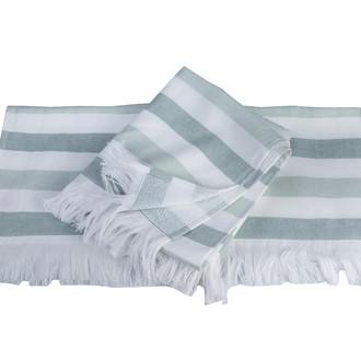 Банное полотенце (пештемаль) Hobby Home Collection STRIPE хлопок (зелёный)