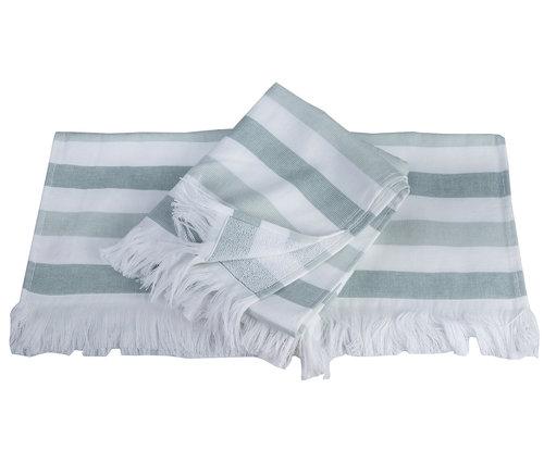 Банное полотенце пештемаль Hobby Home Collection STRIPE хлопок зелёный 50х90, фото, фотография
