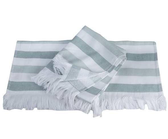 Банное полотенце (пештемаль) Hobby Home Collection STRIPE хлопок (зелёный) 30*50, фото, фотография